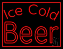 Red Ice Cold Beer Neon Sign