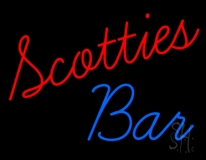 Scotties Bar Neon Sign