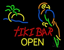 Tiki Bar Open LED Neon Sign