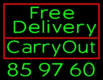 We Deliver Carry Out Neon Sign