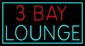 3 Bay Lounge Neon Sign