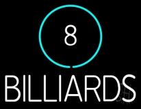 8 Billiards Neon Sign