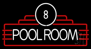 8 Pool Room Neon Sign