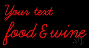 Custom Food and Wine Neon Sign