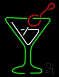 Red Green Martini Glass Neon Sign