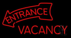 Entrance Vacancy Red Neon Sign