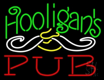 Hooligans Pub Neon Sign