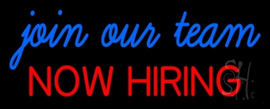 Join Our Team We Are Hiring Neon Sign