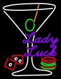 Lady Luck Martini Glass Neon Sign