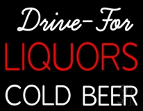 Liquors Cold Beer Neon Sign