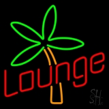Lounge With Flower Neon Sign