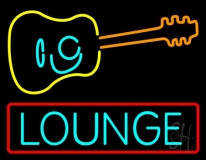 Lounge With Guitar LED Neon Sign