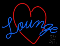 Lounge With Heart LED Neon Sign