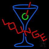 Lounge With Martini Glass Neon Sign