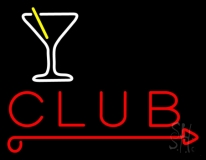 Martini Glass Club LED Neon Sign