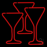 Martini Glasses Neon Sign