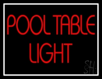 Pool Table Neon Sign
