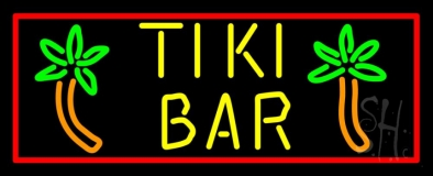 Tike Bar With Two Palm Trees Neon Sign
