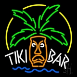 Tiki Bar Logo Neon Sign