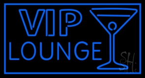 Vip Lounge with Martini Glass LED Neon Sign