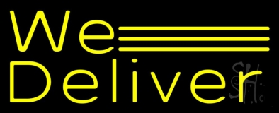 Yellow We Deliver Neon Sign