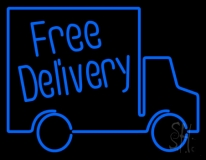 Free Delivery With Van Neon Sign