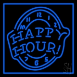 Happy Hour Blue Neon Sign
