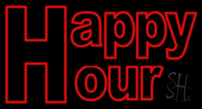 H For Happy Hour Neon Sign
