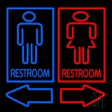 Restrooms With Men And Women LED Neon Sign
