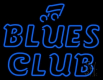 Blues Club Neon Sign