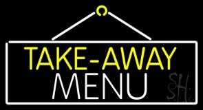 Take Away Menu Neon Sign