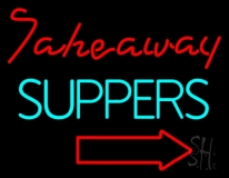 Take Away Suppers Neon Sign