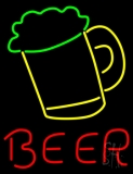 Beer Mug Red Beer LED Neon Sign