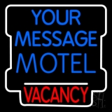 Custom Motel Vacancy Blue LED Neon Sign