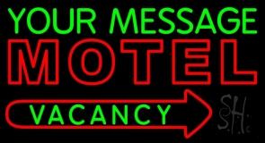 Custom Motel Vacancy Neon Sign