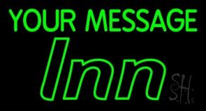 Green Custom Inn Neon Sign
