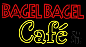 Bagel Bagel Cafe Neon Sign