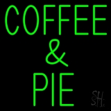 Green Coffee And Pie LED Neon Sign