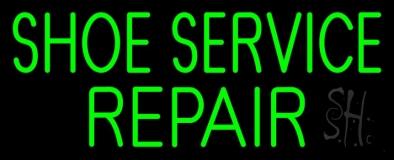 Green Shoe Service Repair Neon Sign