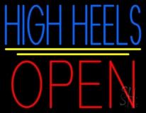 High Heels Open With Line Neon Sign