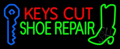 Keys Cut Shoe Repair Neon Sign
