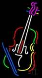 Multicolor Violin With Logo LED Neon Sign