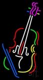 Multicolor Violin With Logo Neon Sign