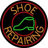 Orange Shoe Repairing Neon Sign