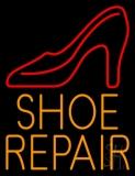 Orange Shoe Repair With Sandal Neon Sign