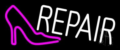 Pink Sandal Logo Repair Neon Sign