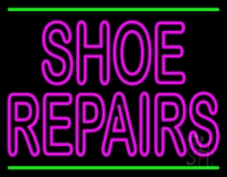 Pink Shoe Repairs With Line Neon Sign