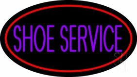 Purple Shoe Service Neon Sign