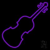 Purple Violin Neon Sign