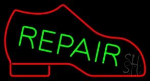 Red Boot Green Repair Neon Sign